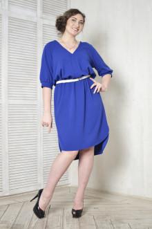 Платье-рубашка 099601 ЛаТэ (Васильковый)