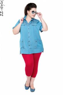 """Блуза """"Её-стиль"""" 1110 ЕЁ-стиль (Небесно-голубой джинс)"""