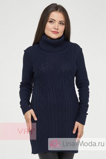 Туника женская 182-4795 Фемина (Темно-синий)