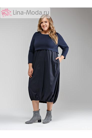 """Платье """"Её-стиль"""" 2041 ЕЁ-стиль (Синий)"""