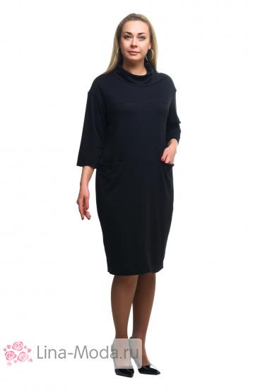 """Платье """"Олси"""" 1805014/2 ОЛСИ (Черный)"""