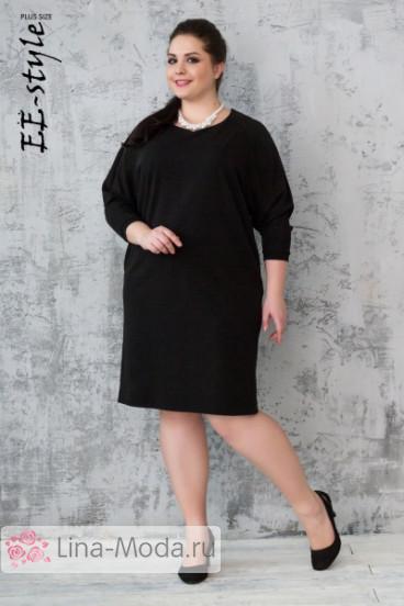 """Платье """"Её-стиль"""" 2023 ЕЁ-стиль (Черный)"""