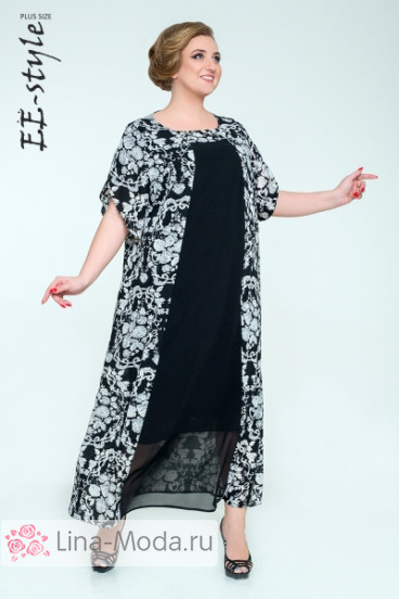 """Платье """"Её-стиль"""" 2036 ЕЁ-стиль (Чёрный)"""