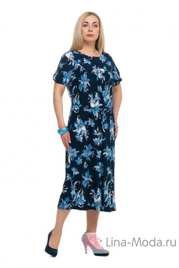 "Платье ""Олси"" 1705040/2V ОЛСИ (Синий)"